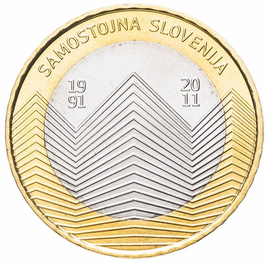 """купить Словения 3 евро 2011 """"20 лет Независимости"""""""