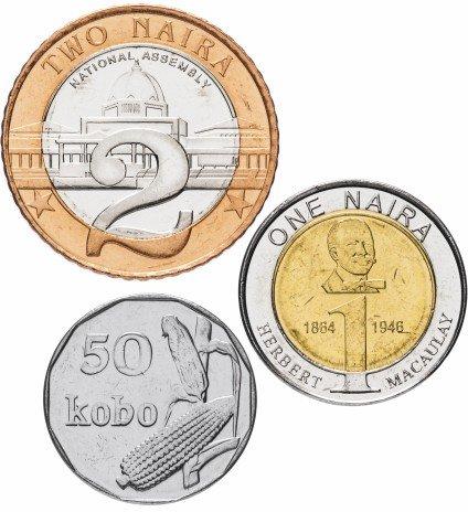 купить Нигерия набор монет 2006 года (3 штуки)