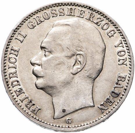 """купить Германская Империя (Баден) 3 марки 1909 """"G"""""""