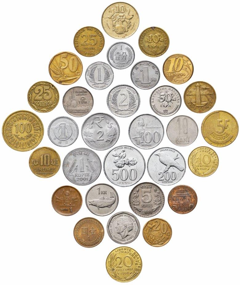 купить Набор 32 монеты из 23 стран мира