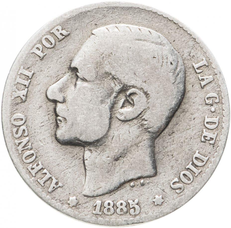 купить Испания, 1песета (peseta) 1885