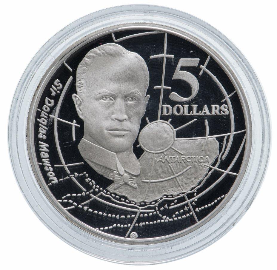 """купить Австралия 5 долларов 1994 """"Путешественники-исследователи: Дуглас Моусон"""""""