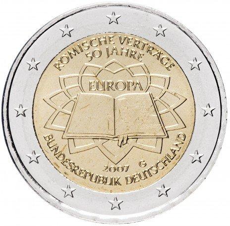 """купить Германия 2 евро 2007 G """"50 лет Римскому договору"""""""