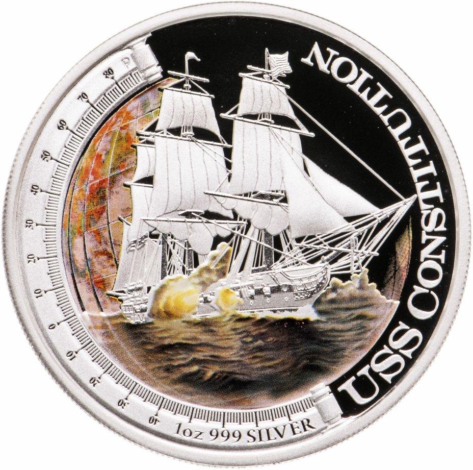 """купить Тувалу 1 доллар 2012 """"Корабли,изменившие  мир-USS Constitution»"""