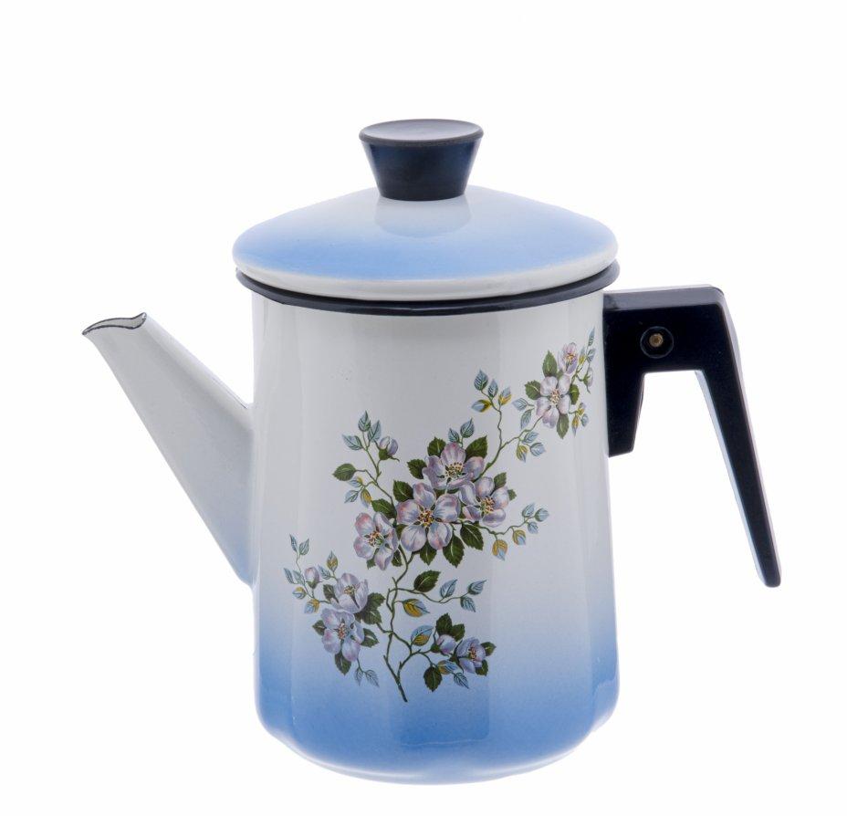 купить Чайник с цветочным декором, металл, эмаль, деколь, пластик, СССР, 1970-1990 гг.