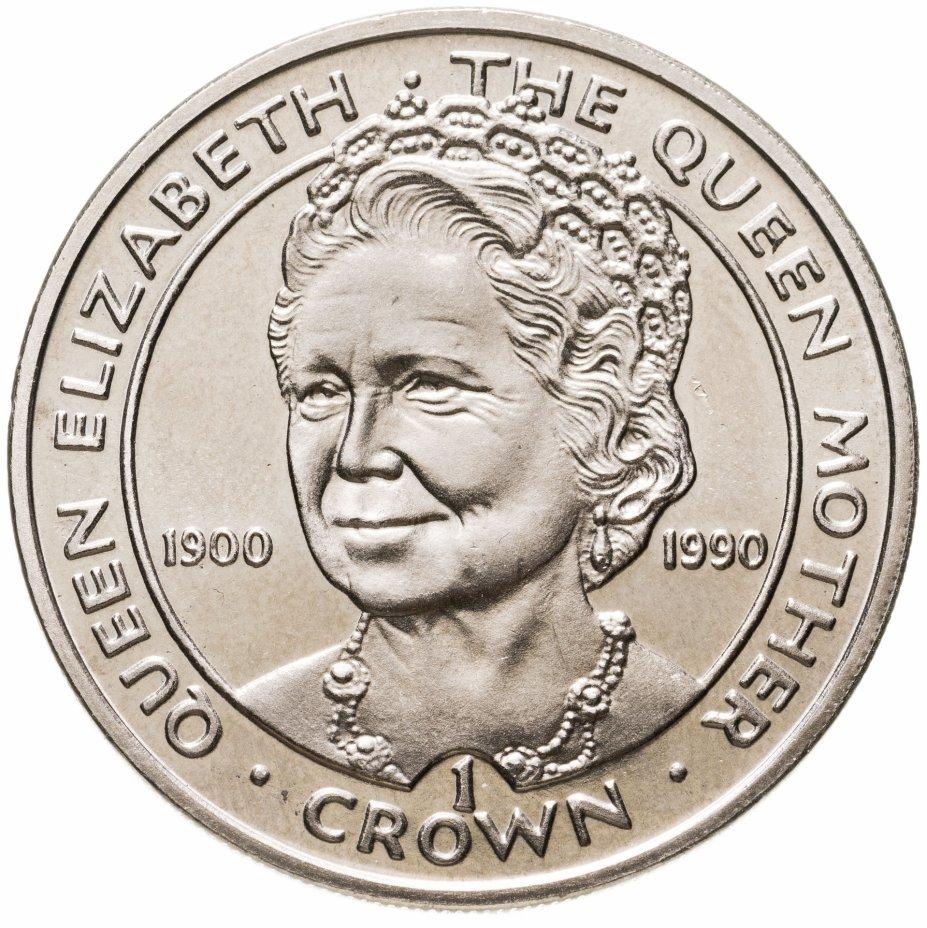 """купить Гибралтар 1 крона (crown) 1990 """"90 лет со дня рождения Королевы-матери"""""""