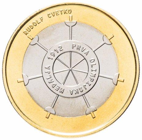 """купить Словения 3 евро 2012 """"100 лет первой Словенской Олимпийской медали"""""""