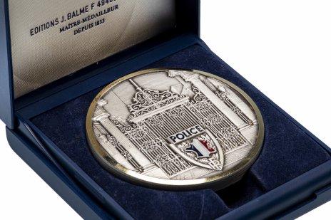 """купить Медаль """"Полиция Франции"""" в футляре"""