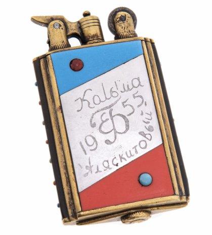 """купить Зажигалка бензиновая """"Колыма"""", латунь, эмаль, СССР, 1940-1950 гг."""