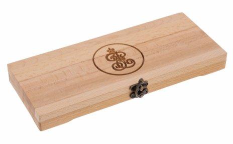купить Футляр деревянный для 10 монет (бук, массив)