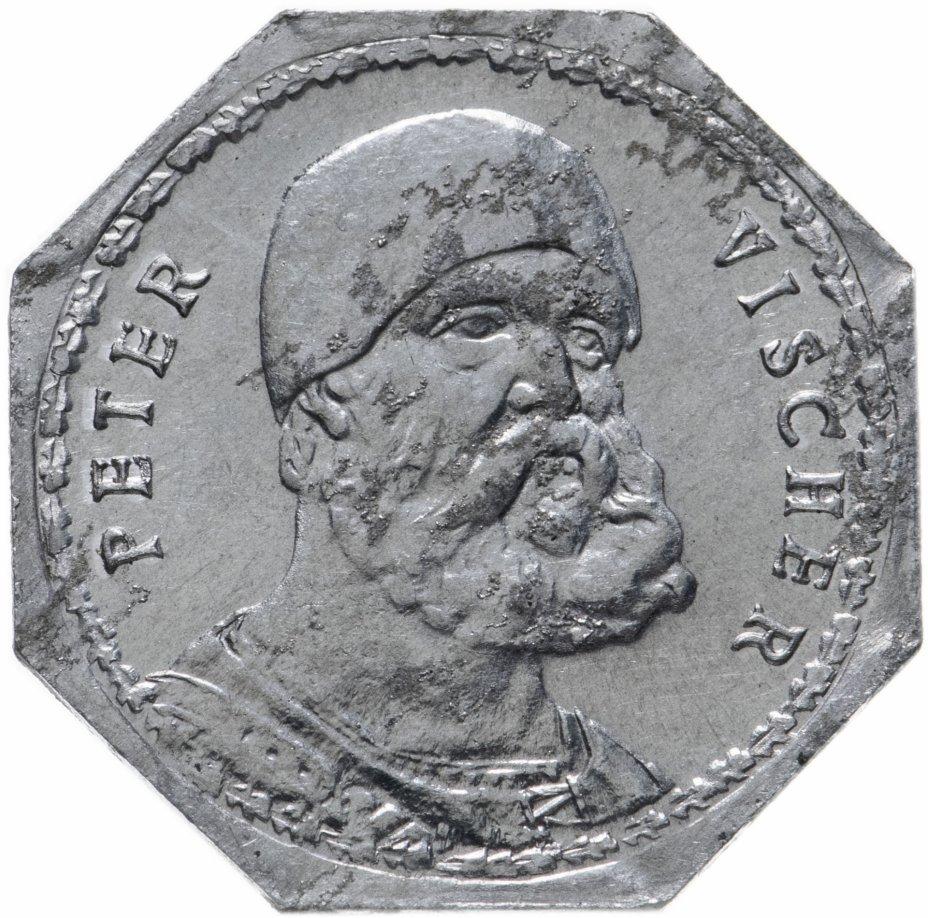 """купить Германия (Нюрнберг) нотгельд  20 пфеннигов 1921 """"Питер Вишер"""" трамвайный жетон"""