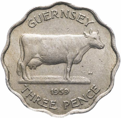 купить Остров Гернси 3 пенса 1959