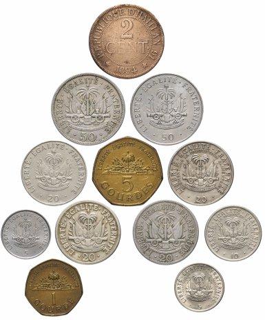 купить Гаити набор из 12 монет 1894-2000