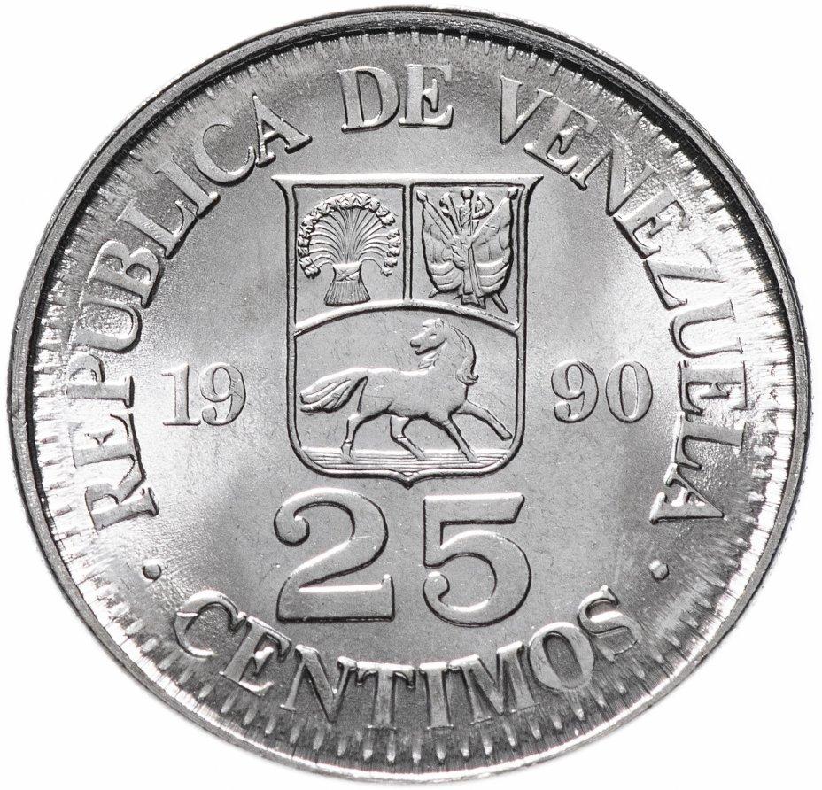 купить Венесуэла 25 сентимо (centimos) 1990