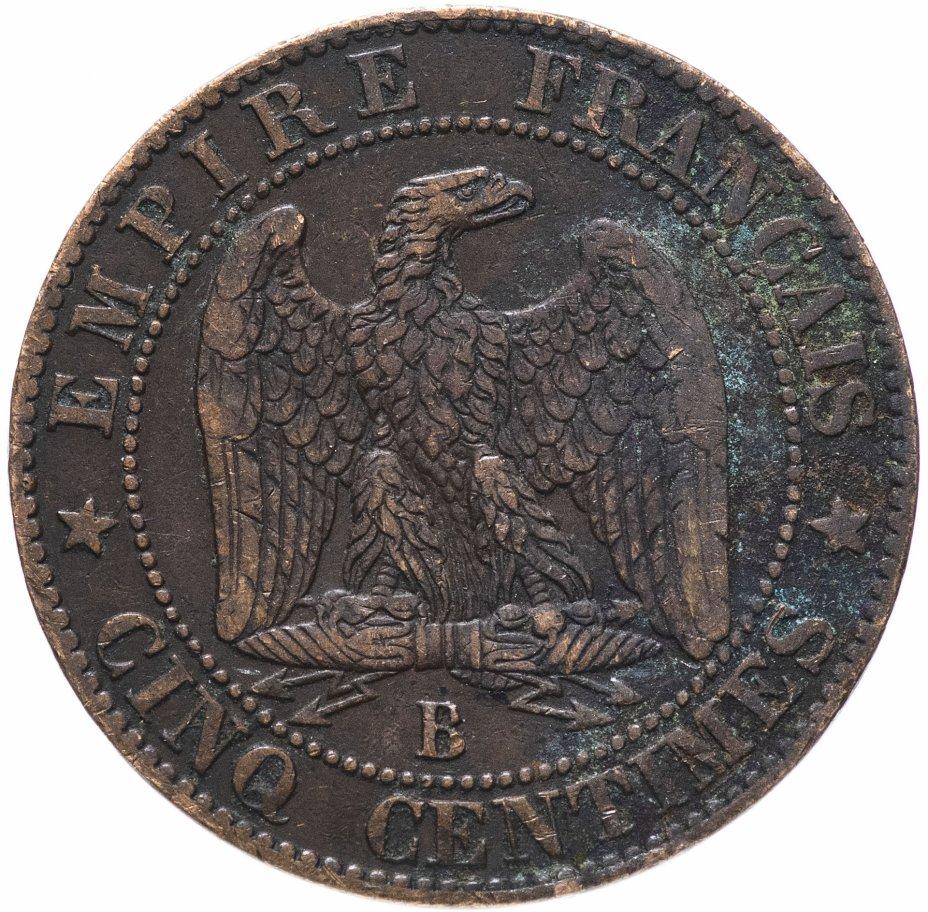 купить Франция 5 сантимов 1855