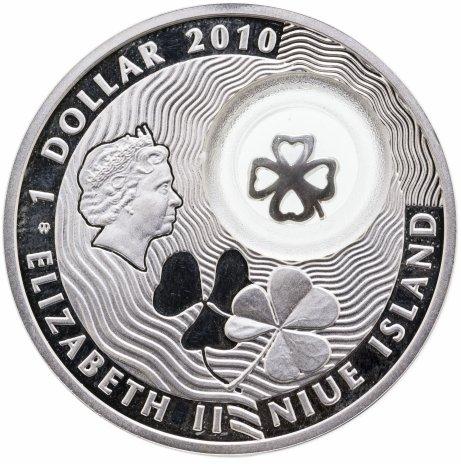 "купить Ниуэ 1 доллар 2010 ""Клевер на удачу"""