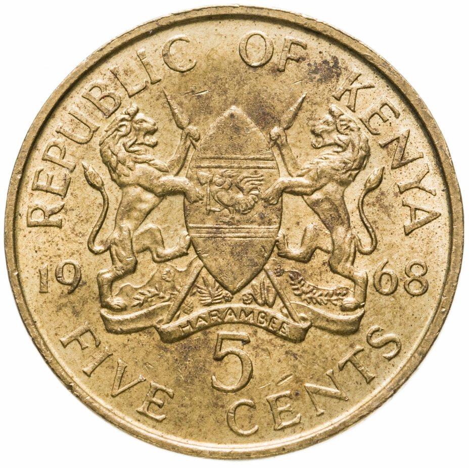 купить Кения 5 центов (cents) 1968