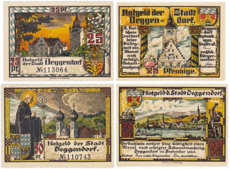 купить Германия (Бавария: Деггендорф) набор из 2-х нотгельдов 1920 (D8.5a/В5)
