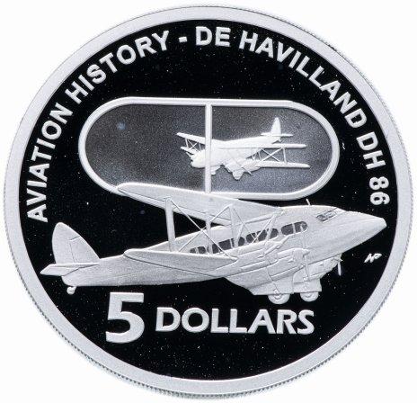 купить Австралия 5 долларов 2009 История Авиации de Havilland D.H.86
