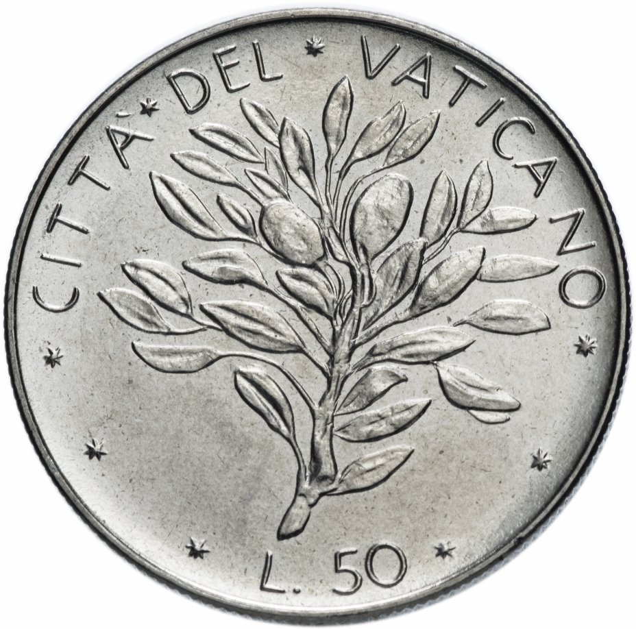 купить Ватикан 50 лир 1971