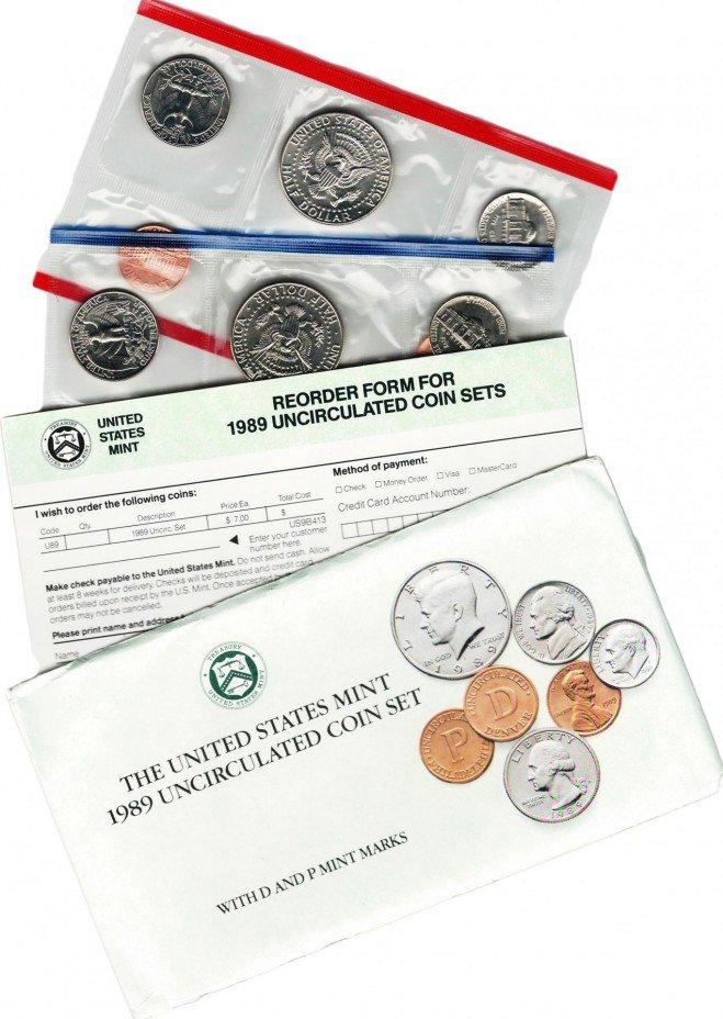 купить США набор монет 1989 P+D (10 монет+2 жетона)