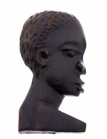 """купить Панно настенное """"Африканка"""", черное дерево Эбен, резьба, Африка, 1970-1990 гг."""