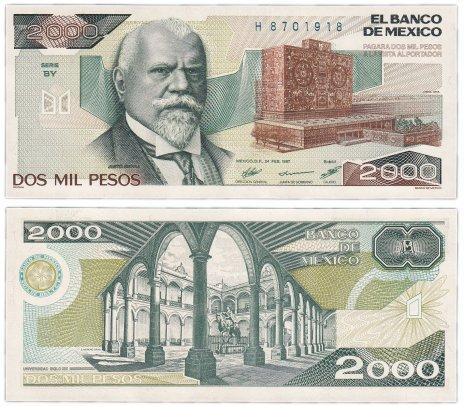 купить Мексика 2000 песо 1987 (Pick 86b) Подпись 2