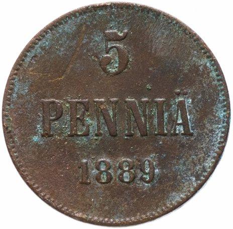 купить 5 пенни 1889, для Финляндии