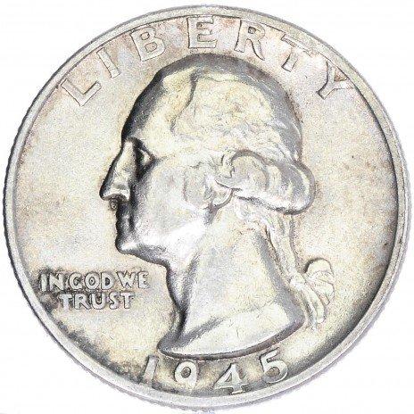 купить США 25 центов (квотер) 1945