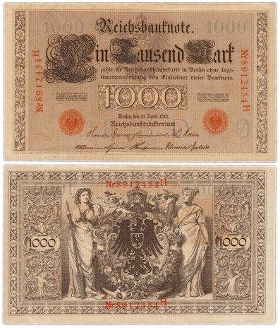 купить Германия 1000 марок 1910 (Pick 44b) красная печать