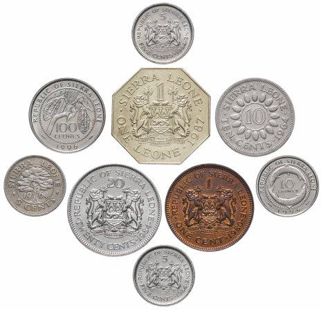 купить Сьерра-Леоне набор из 9 монет 1964-1996