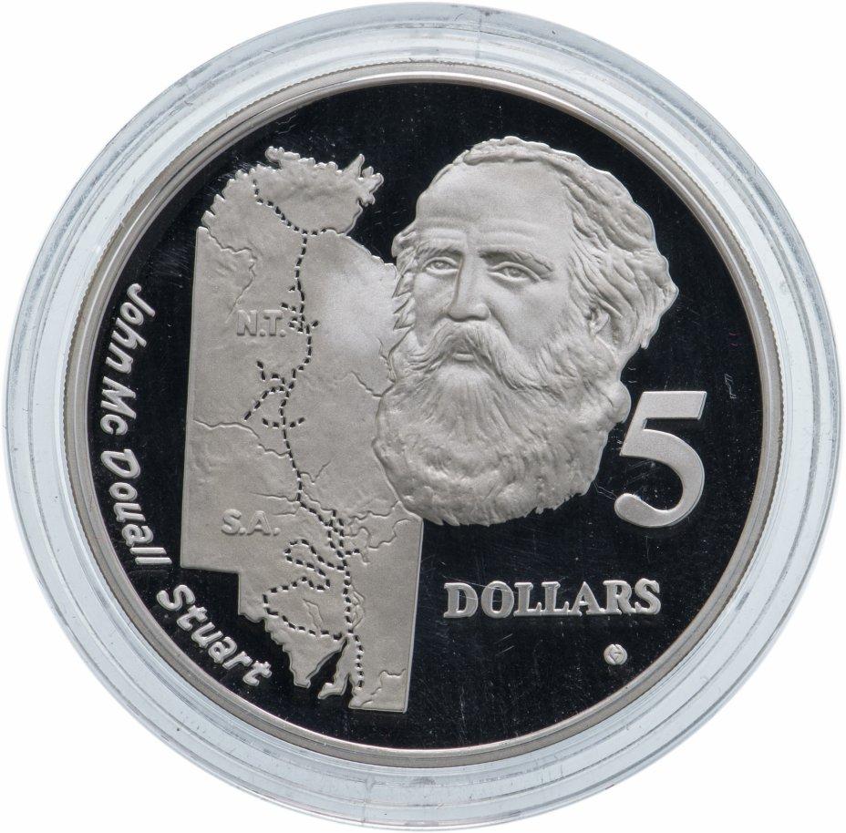 """купить Австралия 5 долларов 1994 """"Путешественники-исследователи:Джон Макдуал Стюарт"""""""