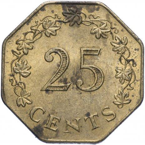 купить Мальта 25 центов 1975