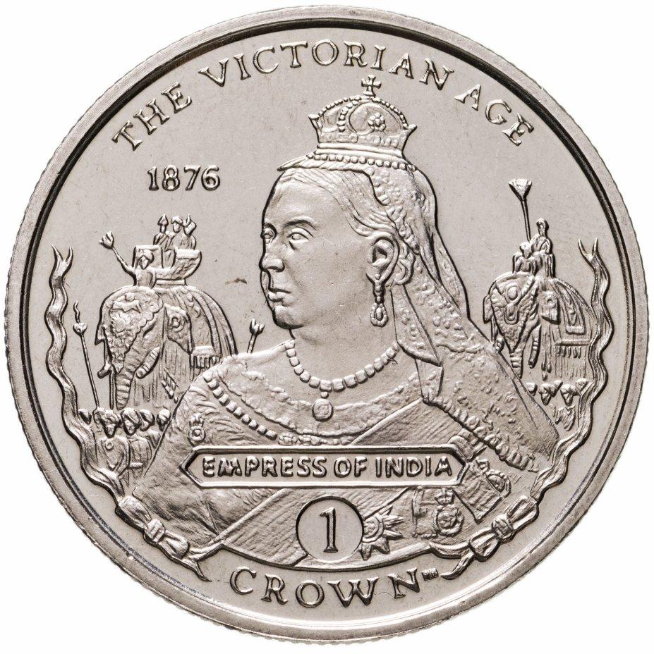 """купить Гибралтар 1 крона 2001 """"Викторианский век - Императрица Индии 1876"""""""