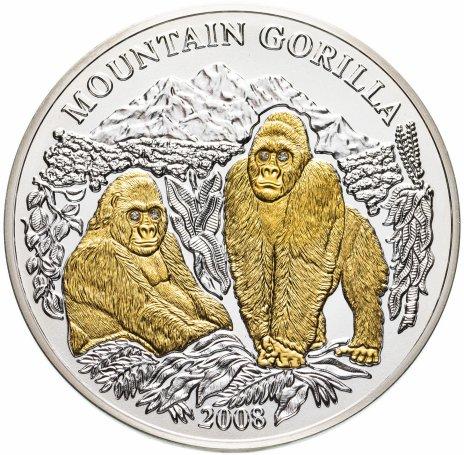 """купить Руанда 1000 франков 2008 """"Горная горилла"""" с сертификатом"""