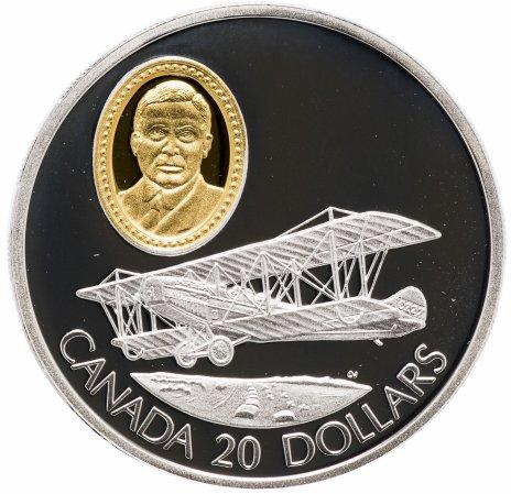 купить Канада 20 долларов 1992 Герои авиации,  портрет сэра Франка В. Байли