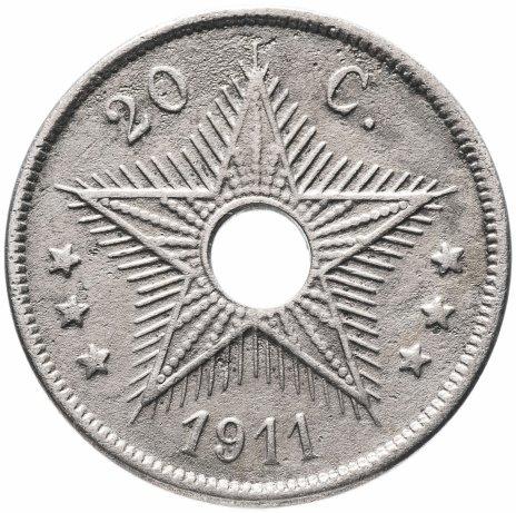 купить Бельгийское Конго 20сантимов (centimes) 1911