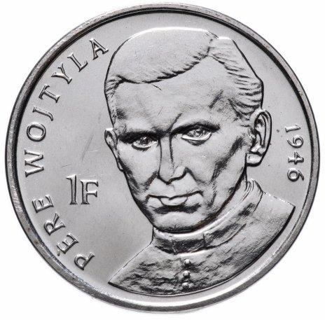 """купить Конго (ДРК) 1 франк (franc) 2004 """"25 лет правления Иоанна Павла II /священник Войтыла, 1946/"""""""