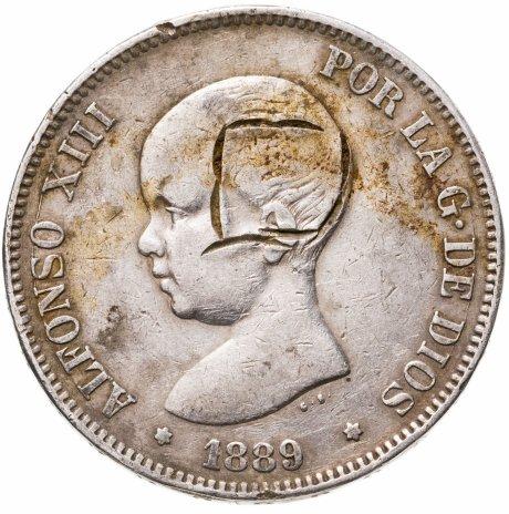 купить Испания 5 песет (pesetas) 1889