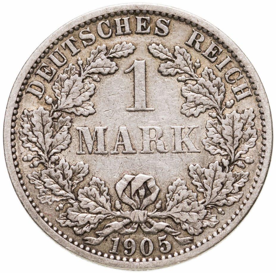 """купить Германия 1 марка (mark) 1905 A  знак монетного двора: """"A"""" - Берлин"""