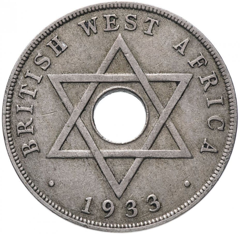 купить Британская Западная Африка 1 пенни 1933 Без отметки монетного двора