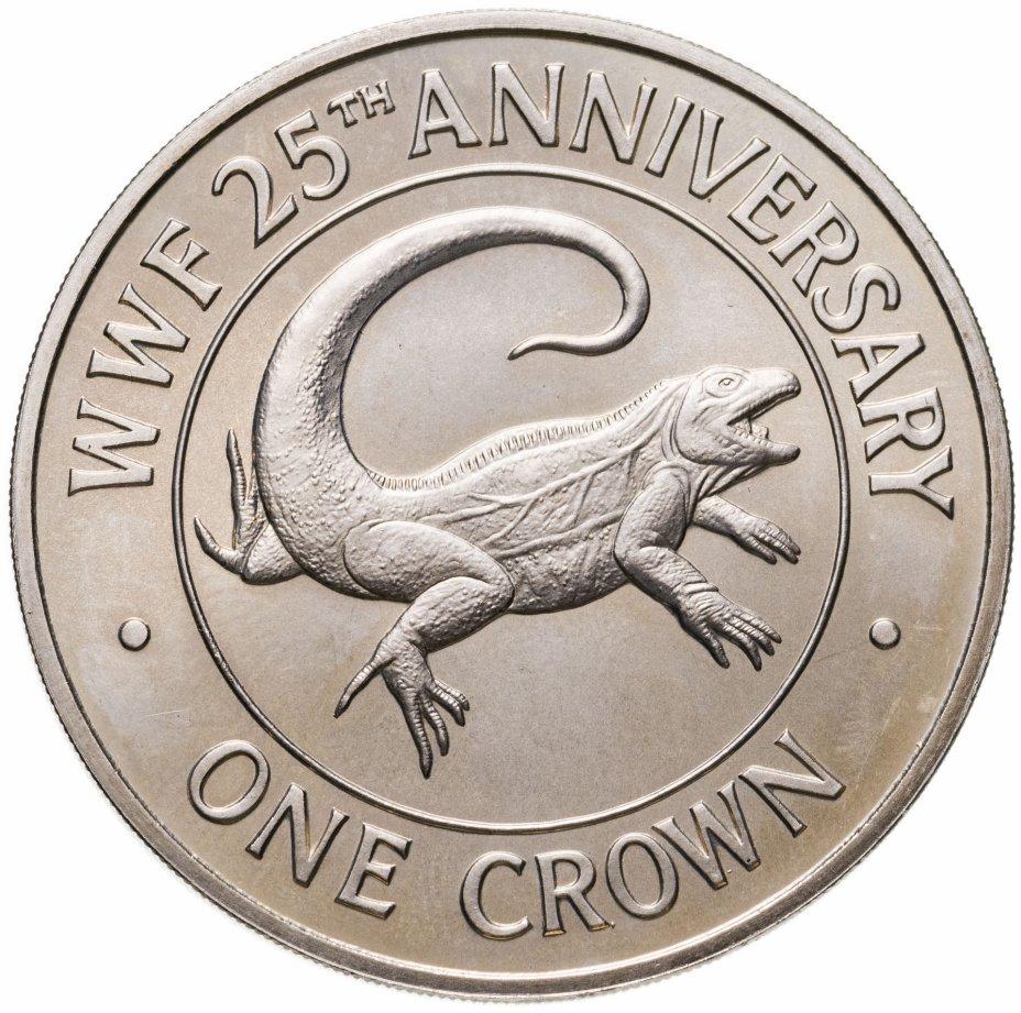 """купить Тёркс и Кайкос 1 крона (crown) 1988 """"25 лет Фонду дикой природы"""""""