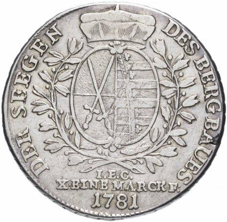 купить Саксония (Германия) 1 талер 1781 Фридрих Август III