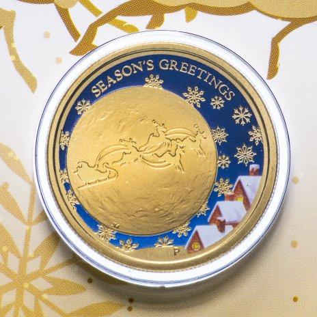 """купить Австралия 1 доллар 2014 """"Рождество"""" (в конверте, с маркой)"""