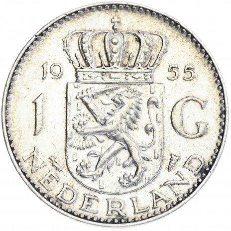 купить 1 гульден, Нидерланды 1955г