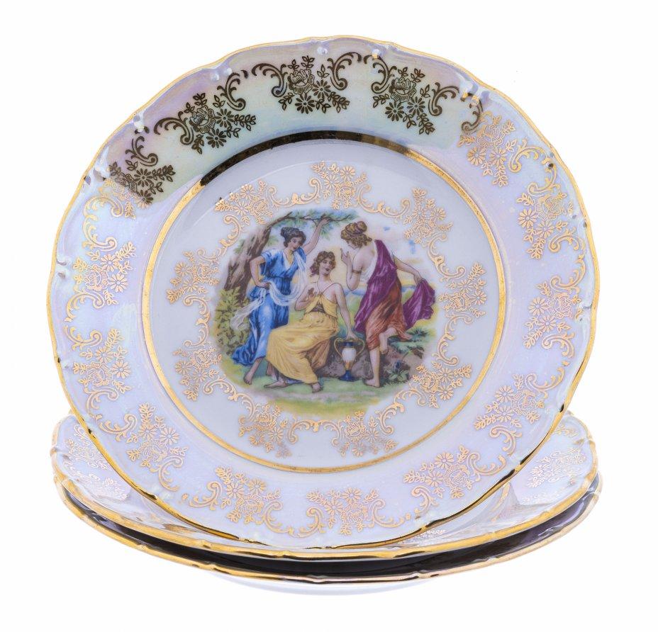 """купить Набор тарелок  """"Мадонна"""" на 3 персоны, фарфор, деколь, мануфактура """"Epiag"""", Чешская Республика, 1993-2015 гг."""