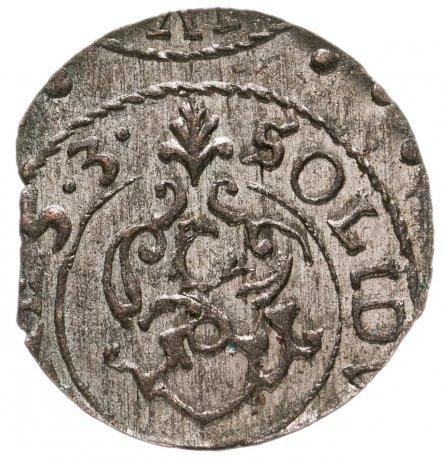 купить Шведская Ливония 1 солид 1632-1654 королева Кристина