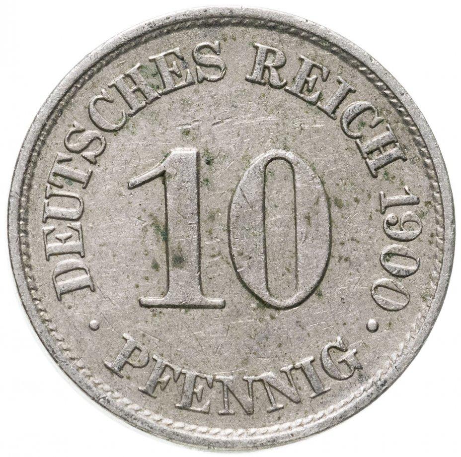 """купить Германия 10 рейх пфеннигов 1900 """"А"""""""