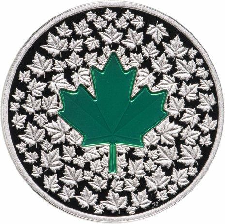 """купить Канада 20 долларов 2014 """"Лист клена импрессия"""" в футляре, с сертификатом"""