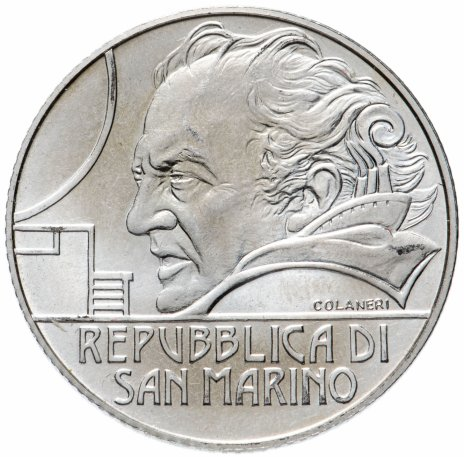 "купить Сан-Марино 5 евро 2013 ""Федерико Феллини"""